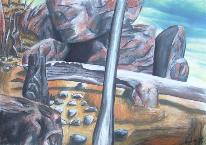 Leanganook pastel-on-paper 40x60cm 2001 $800
