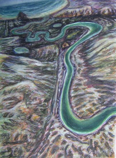 Margaret River gouache-on-paper-20x30cm 2010 $200