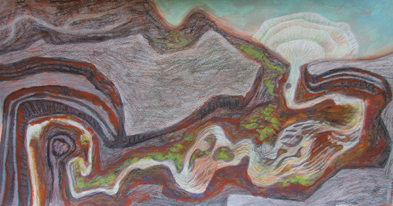 River Mouth pastel-on-paper-20x30cm 2006 $300