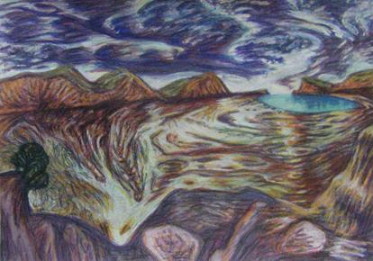 Sky Pool gouache-on-paper 20x30cm 2015 $200