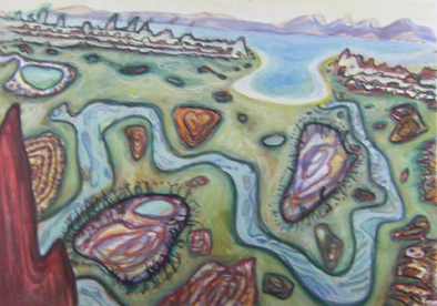 Squiggly River gouache-on-paper 40x60cm 2010 $800